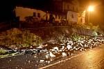 V Údolí na Sokolovsku spadla v noci opěrná zeď