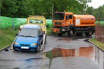 Čištění ulic v Sokolově