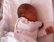 Kristýnka Havlová z Lubů měřila při porodu 49 cm a vážila 3,5 kg.