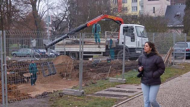 Výstavba v centru Chodova.