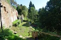 Hradní terasy na Hartenbergu.