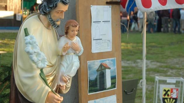 Svatý Josef, který bude zdobit obnovenou kapli v Josefově.