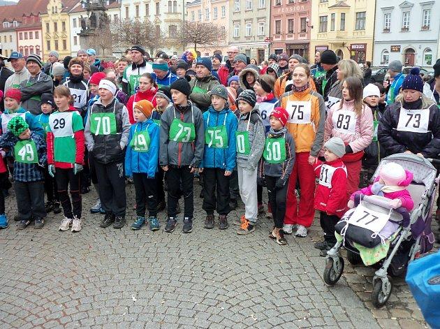Novoroční běh v Lokti.