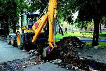 Ve Wolkerově ulici nechá radnice zrekonstruovat i kanalizaci