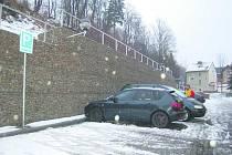 Nové parkoviště v Kraslicích.