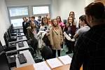 Návštěva školáků na sokolovské radnici.