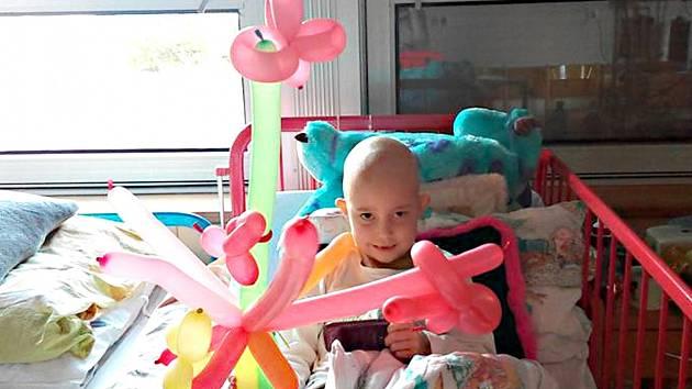 ANIČKA Křehká z Kraslic je už dva měsíce v péči lékařů. Onemocněla leukémií.