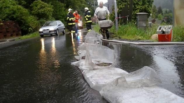 Záplavy na Kraslicku.