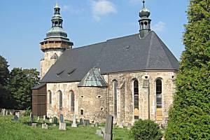 KOSTEL SV. JIŘÍ v Horním Slavkově je cenná historická památka, která prochází postupnou rekonstrukcí.