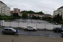 Náměstí Budovatelů v Sokolově