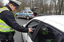 Policejní akce TISPOL v Karlovarském kraji.