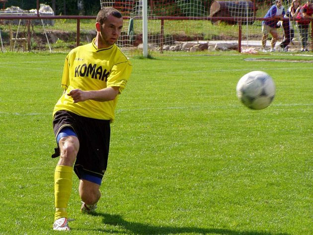 František Dřížďal ještě v divizním dresu Baníku Sokolov.