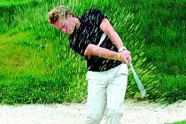 Lukáš Mensator na sokolovském golfovém hřišti.