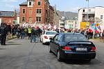 Zablokování hraničního přechodu v Kraslicích.