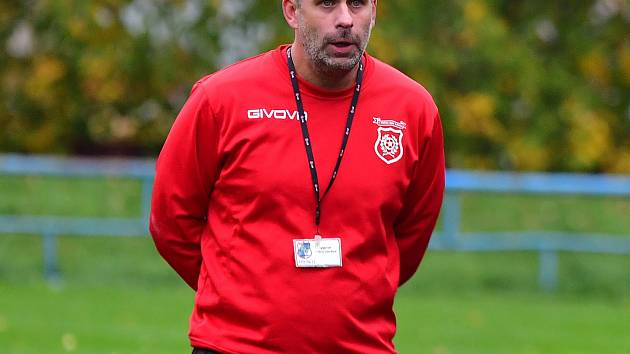Martin Bulíček, trenér TJ Spartak Horní Slavkov.