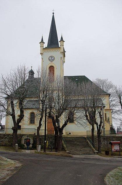 Kostel vKrajkové.