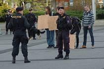 Akci monitorovala policie