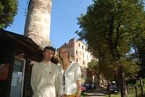 Umělci Dmytro a Olga z Ukrajiny