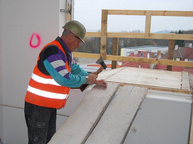 Rekonstrukce v pavilonu E, kde bude oční oddělení