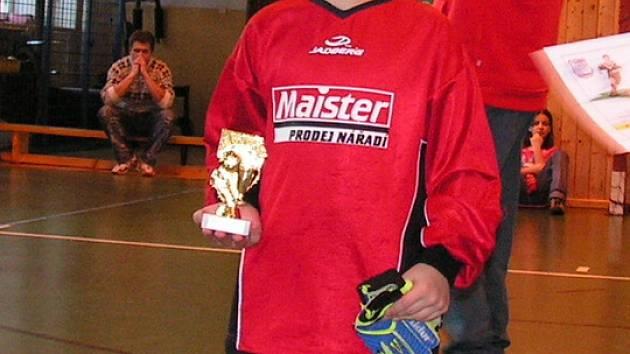 Nejlepší brankář turnaje V. Vondrys ze Slavkova.