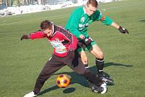 Přípravné utkání: FK Baník Sokolov - FC Chomutov (v červených dresech)