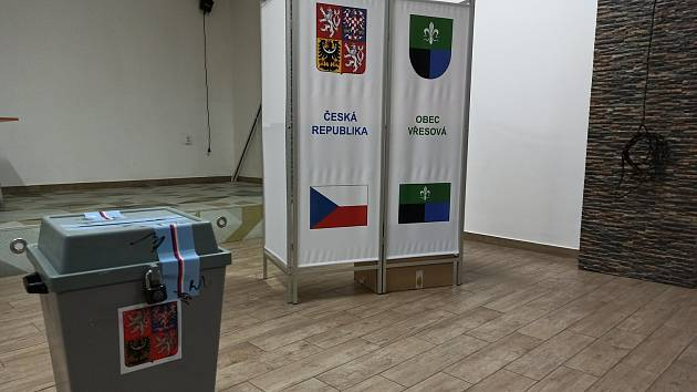 Volební místnost ve Vřesové