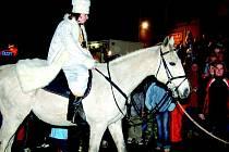 Horní Slavkov přivítá Martina na bílém koni.