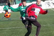 Příprava: FK Baník Sokolov - FC Chomutov  (v črvených dresech)