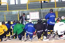 Dopolední trénink hokejistů Baníku Sokolov