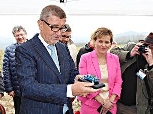 Premiér v demisi Andrej Babiš navštívil Sokolovsko