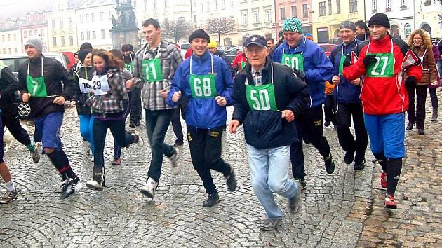 Novoroční běh v Lokti 2012