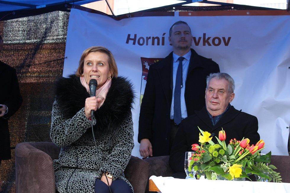 Návštěva prezidenta republiky na Sokolovsku.