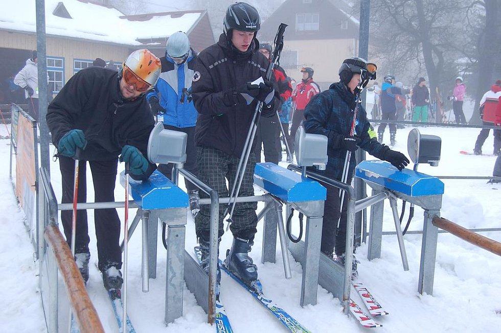 Skiareál v horské Bublavě.