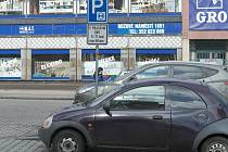 Parkování na kotouček v Sokolově
