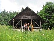 Srub na Slovensku kde studenti přespali