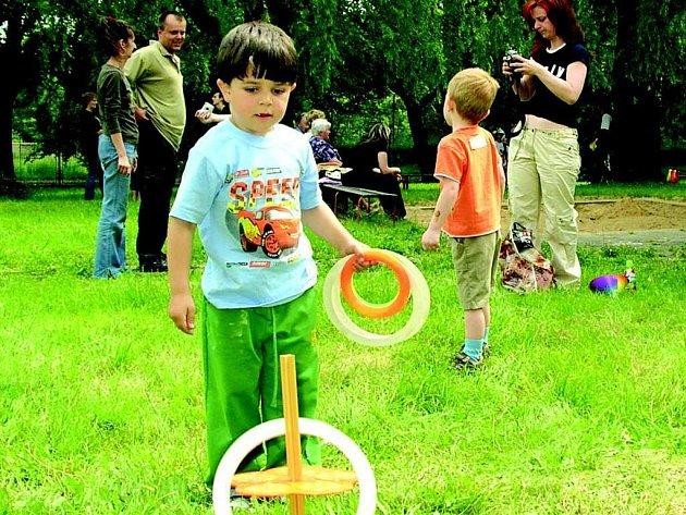 Zábavné odpoledne si děti náležitě užily.
