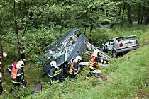 Vážná nehoda za Kraslicemi.