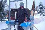 Lidé si užívali v bublavském skiareálu.