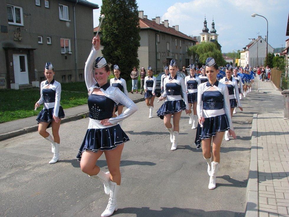 Oslavy osvobození od fašismu v Kynšperku nad Ohří.