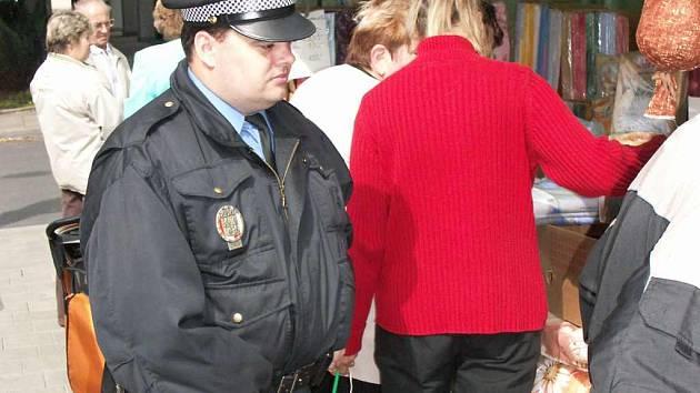 Strážník Městské policie v Chodově.