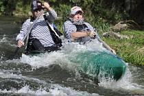 Už při zamykání Ohře na podzim sjížděli vodáci řeku z Kynšperka do Sokolova, kde se konal program.