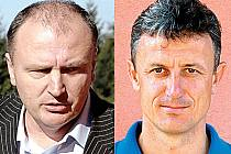 Noví trenéři Baníku Sokolov Vítězslav Hejret (vlevo) a Stanislav Purkart.