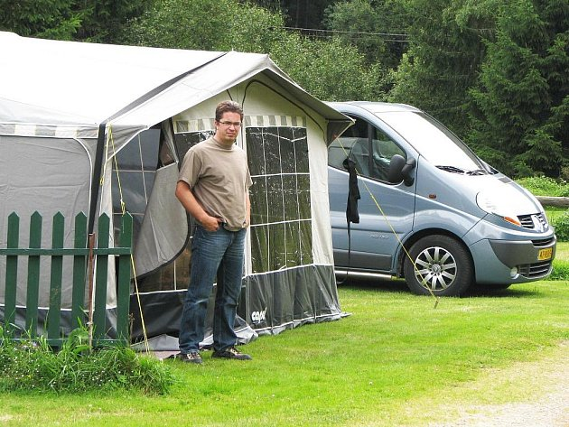 CAMP CLUB NANCY přivítal první návštěvníky až na konci července. Svoji dovolenou se zde rozhodla strávit rodina z Nizozemí.
