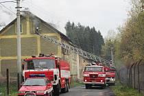 Požár v Rotavě.