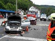 Nehoda dvou aut v Oloví