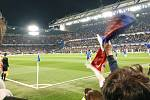 Čeští fandové si v Londýně užili zápas Slavie.