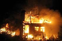 Požár domu v Horním Slavkově.