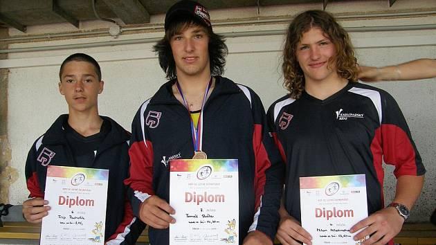 Zleva: Filip Pacholík, Tomáš Skála a Milan Mňatinoha