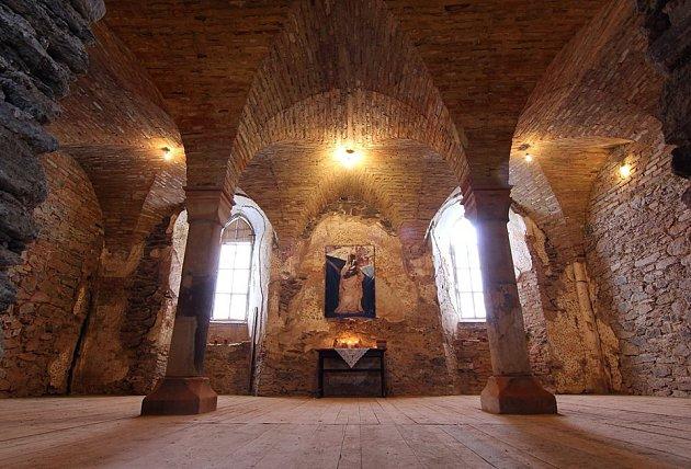 Hradní kaple sv. Tří králů v lednu 2017.