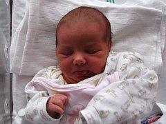 Kristýnka Bořková z Bukovan při porodu měřila 50 cm a vážila 3,460 kg.
